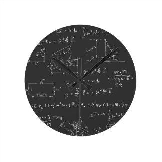 Physics diagrams and formulas clock