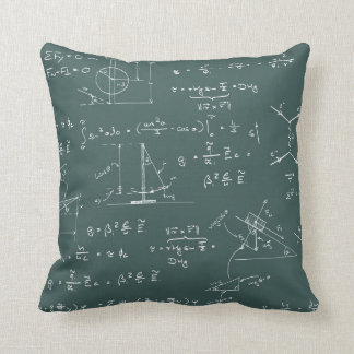 Physics diagrams and formulas pillow
