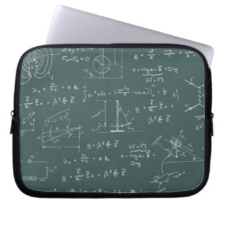 Physics diagrams and formulas laptop sleeve