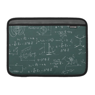 Physics diagrams and formulas MacBook sleeve