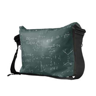 Physics diagrams and formulas courier bag