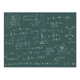 Physics diagrams and formulas postcard