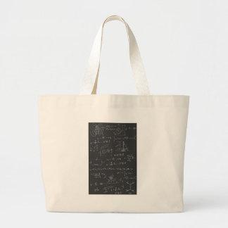 Physics diagrams and formulas jumbo tote bag
