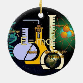 Physics E=mc2 colorful design Christmas Ornament