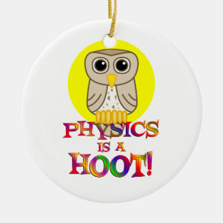 Physics is a Hoot Christmas Ornament