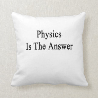 Physics Is The Answer Cushion