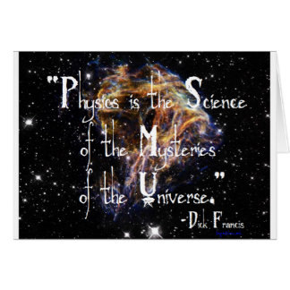 Physics is the Science Greeting Cards