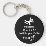 physics - it's the sudden deceleration that kills keychain