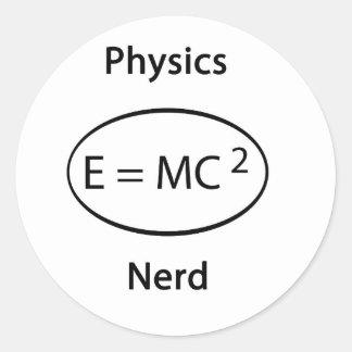 Physics nerd classic round sticker