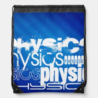 Physics; Royal Blue Stripes Cinch Bag