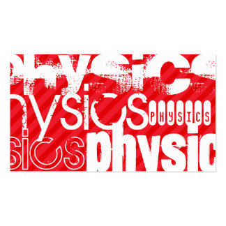 Physics; Scarlet Red Stripes Pack Of Standard Business Cards