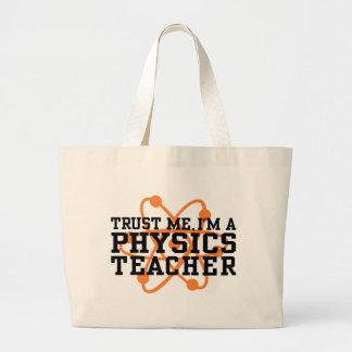 Physics Teacher Large Tote Bag