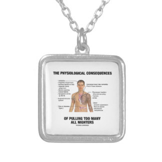 Physiological Consequences Pulling All Nighters Square Pendant Necklace