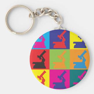 Physiology Pop Art Basic Round Button Key Ring