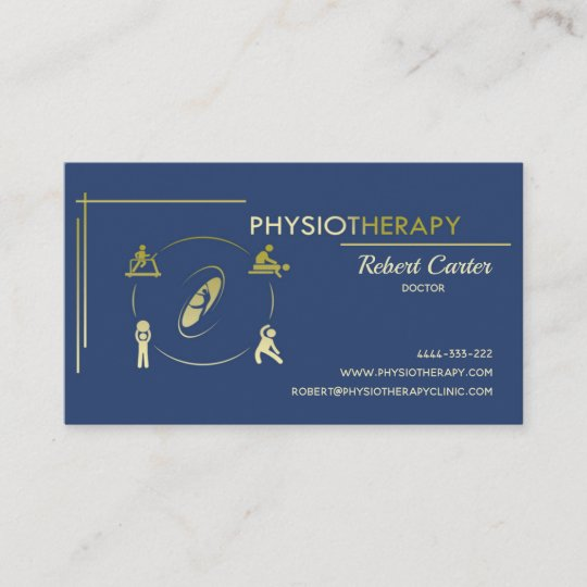 Physiotherapy Private Clinic Doctor Physiotherpist Business Card
