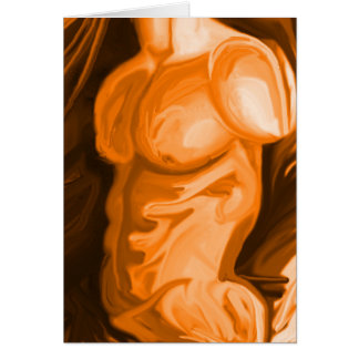 Physique Series Greetings Orange Greeting Card