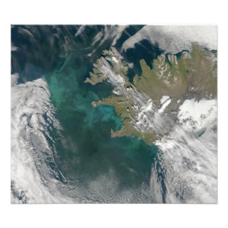 Phytoplankton bloom in the North Atlantic Ocean Photo Print
