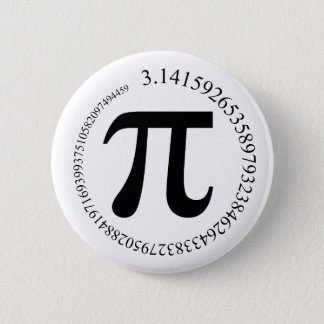 Pi (π) Day 6 Cm Round Badge