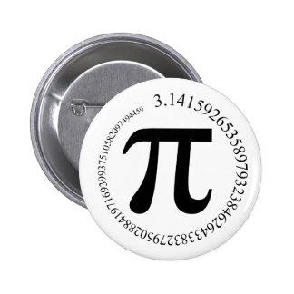 Pi (π) Day 6 Cm Round Badge