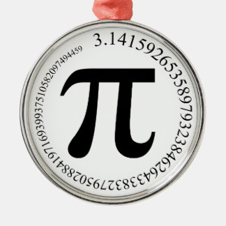 Pi (π) Day Christmas Ornament