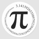 Pi (π) Day Classic Round Sticker