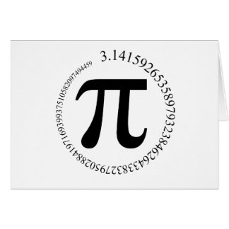 Pi (π) Day Note Card
