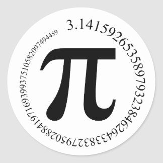 Pi (π) Day Round Sticker