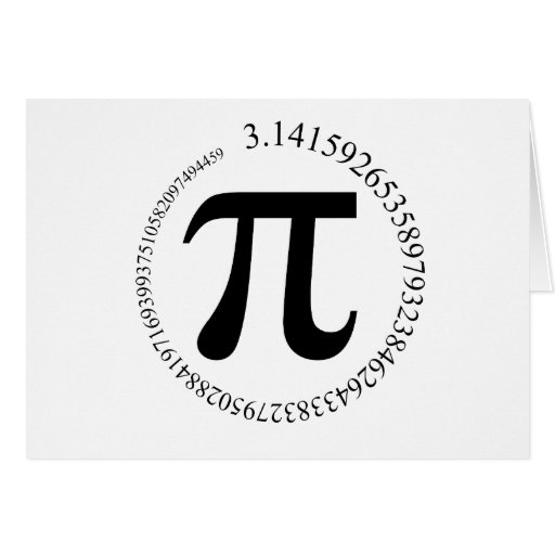 Pi (π) Day Stationery Note Card