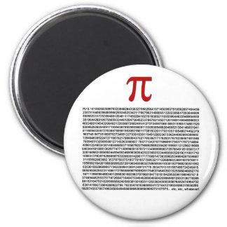 Pi = 3.141592653589 etc etc... whatever! 6 cm round magnet