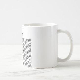 Pi = 3.141592653589 etc etc... whatever! coffee mug