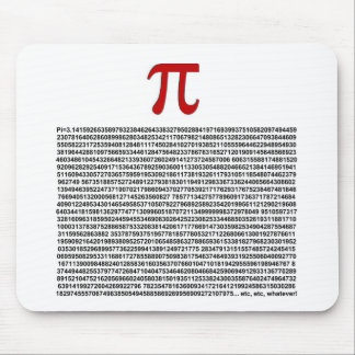 Pi = 3.141592653589 etc etc... whatever! mouse pad