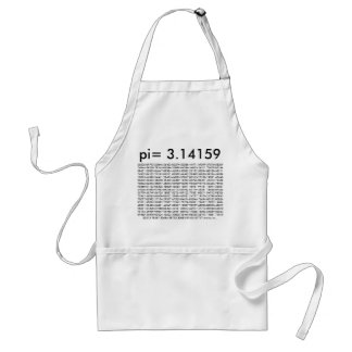 pi= 3.14159 and so on Math Science pi Day Digits Standard Apron
