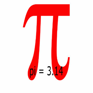 Pi = 3.14, Pi sign Standing Photo Sculpture