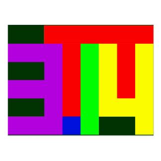 PI = 3.14 POSTCARD