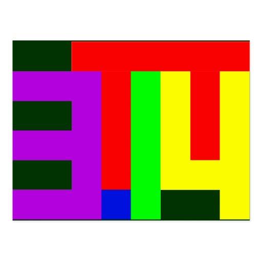 PI = 3.14 POST CARD