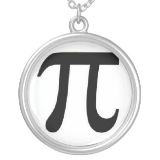 pi 3.14 silver plated necklace