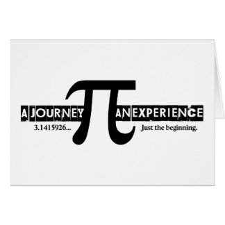 Pi: A Journey. An Experience Note Card