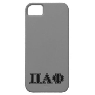 Pi Alpha Phi Black Letters iPhone 5 Cover