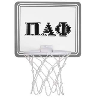 Pi Alpha Phi Black Letters Mini Basketball Hoop