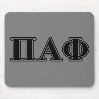 Pi Alpha Phi Black Letters Mouse Mat