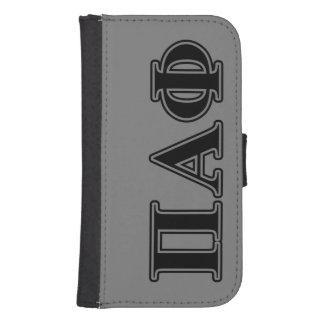 Pi Alpha Phi Black Letters Samsung S4 Wallet Case