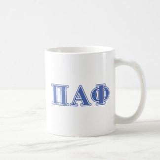 Pi Alpha Phi Blue Letters Coffee Mug