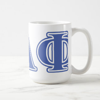 Pi Alpha Phi Blue Letters Coffee Mug