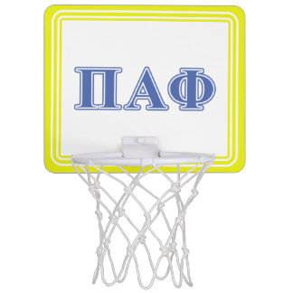 Pi Alpha Phi Blue Letters Mini Basketball Hoop