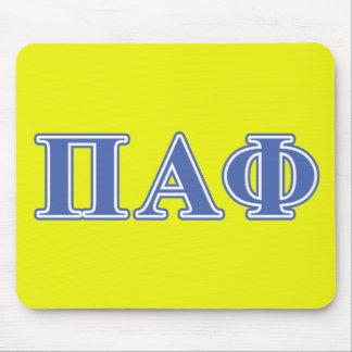 Pi Alpha Phi Blue Letters Mouse Mat