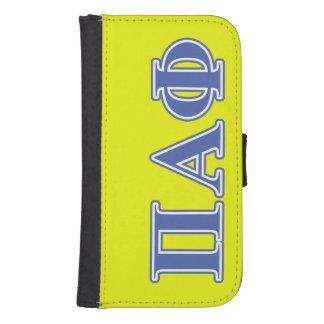 Pi Alpha Phi Blue Letters Samsung S4 Wallet Case