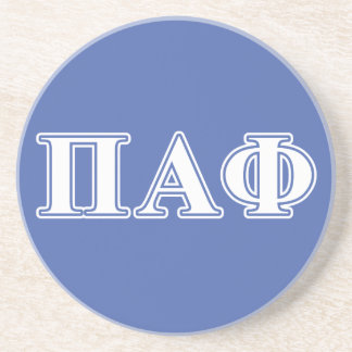 Pi Alpha Phi White and Blue Letters Coaster