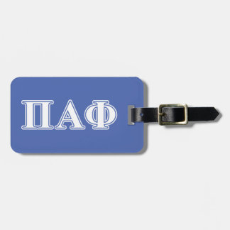 Pi Alpha Phi White and Blue Letters Luggage Tag