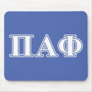Pi Alpha Phi White and Blue Letters Mouse Mat