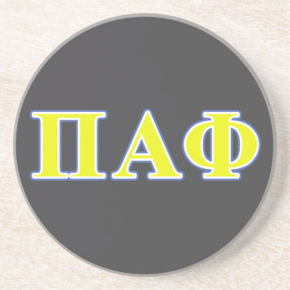 Pi Alpha Phi Yellow and Blue Letters Coaster